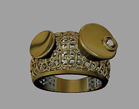 engagement-ring 3D print model Gold ring