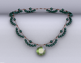 Necklace pendant 3D model game-ready