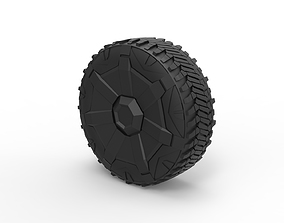 3D printable model Diecast Wheel from Tesla Cyberpunk
