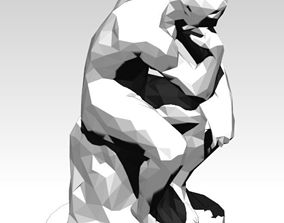 The Thinker Lowpoly Style 3D print model printable