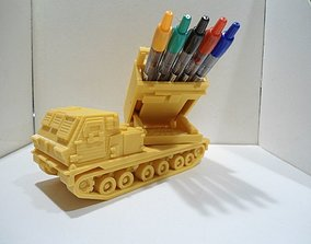 Missiles launcher truck pen and 3D printable model 1