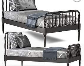 Crate and Barrel Jenny Lind Bed 3D model