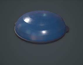 3D asset low-poly Bosu Balance Ball PBR VR