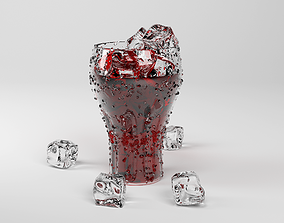 3D model Iced Drink in Glass Cup