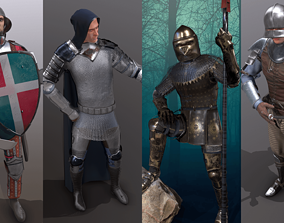 3D model Medieval Knights Pack - 1