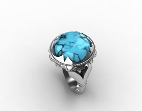 3D stone ring