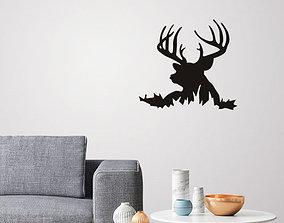 Deer Silhouette for wall art 3D printable model