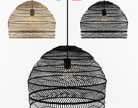 furniture 3D model Wicker Hanging Lamp - HK living