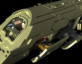 3D animated StarGate Atlantis Puddle Jumper