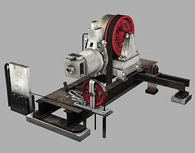 Geared Traction Machine 3D asset realtime