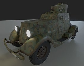 Armoured Car FAI-M 3D asset low-poly