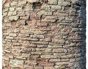 Rock masonry 05 scanned material 3D asset