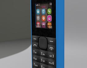 3D model Nokia 105 Blue body