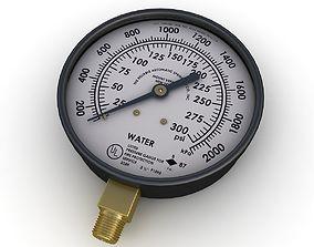 Water pressure gauge 3D model