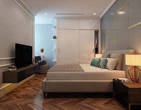 interior-villa Bedroom modern 3D model