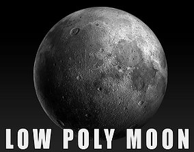 Moon Low poly 3d Model realtime