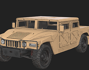 3D model Military Pickup Vehicle - Game Ready