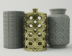 Porcelain Vases 3D model