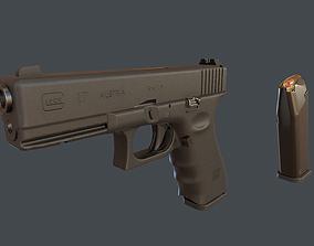 3D asset Glock 17 with magazine