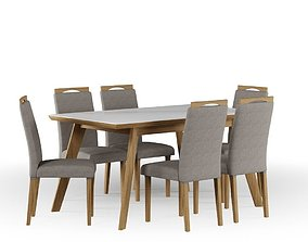 Table and Chairs Aline Betina 3D