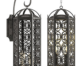 3D model Spanish Style Hanging Lantern for IndoorOutdoor