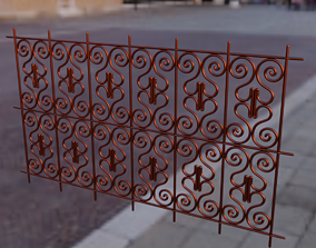 Moroccan traditional iron window 3D