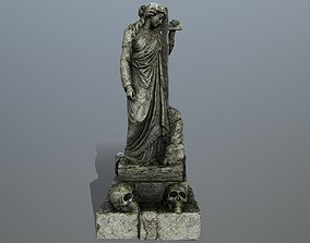 stone 3D asset game-ready statue 5