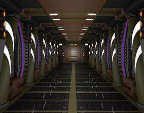 3D science Sci Fi Corridor