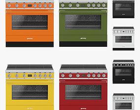 SMEG cookers 3D asset low-poly