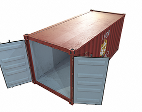 Container red 3D asset