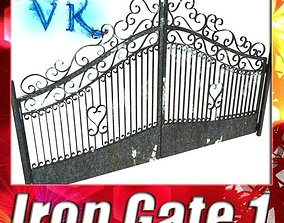 3D Wrought Iron Gate 01