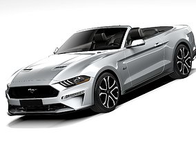 Ford Mustang GT Convertible 2018 3D
