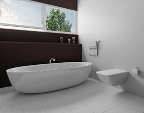 Modern Bathroom Interior visualization 3D