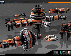 Spaceships Vol-16 3D asset