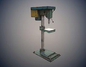 PBR drill machine 3D model realtime