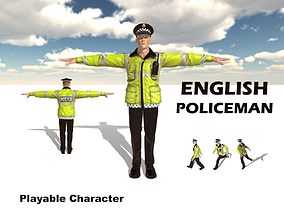 English Policeman 3D asset