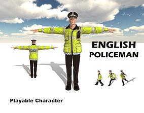 English Policeman 3D asset