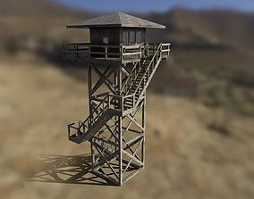 3D model Modular Fire lookout tower PBR