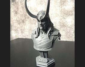 3D print model LOKI Bust With Helmet - Tom Hiddleston - 4