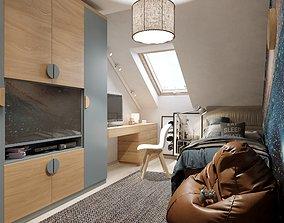 3D model Boy room interior scene