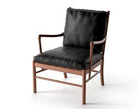 wooden PJ-149 1 Colonial Chair 3D model