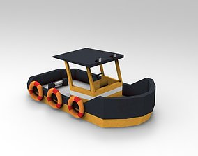 Low Poly Boat 3D model