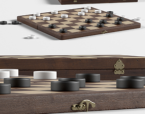 3D boardgame checkers