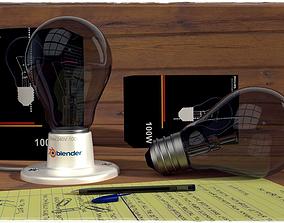 3D Bulb and Bulb Holder