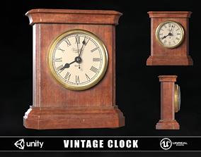 Vintage Clock 3D asset low-poly