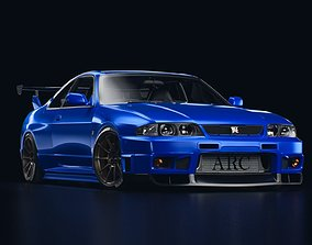3D nissan GT-R R33