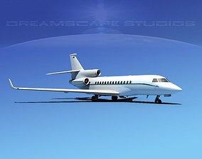 3D model Dassault Falcon 7X V13