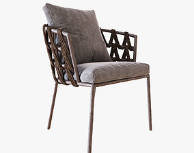 Vincent Sheppard Leo Garden Dining Chair 3D model