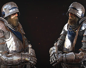 Knight Character Male 3D model