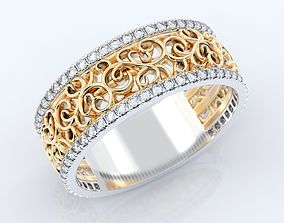 3D print model Exclusive Stylish Wedding Ring 379